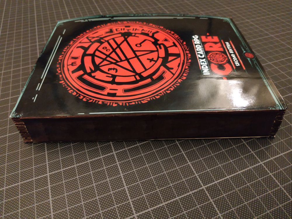 Hand-bound ICRPG Tome - INDEX CARD RPG - RUNEHAMMER