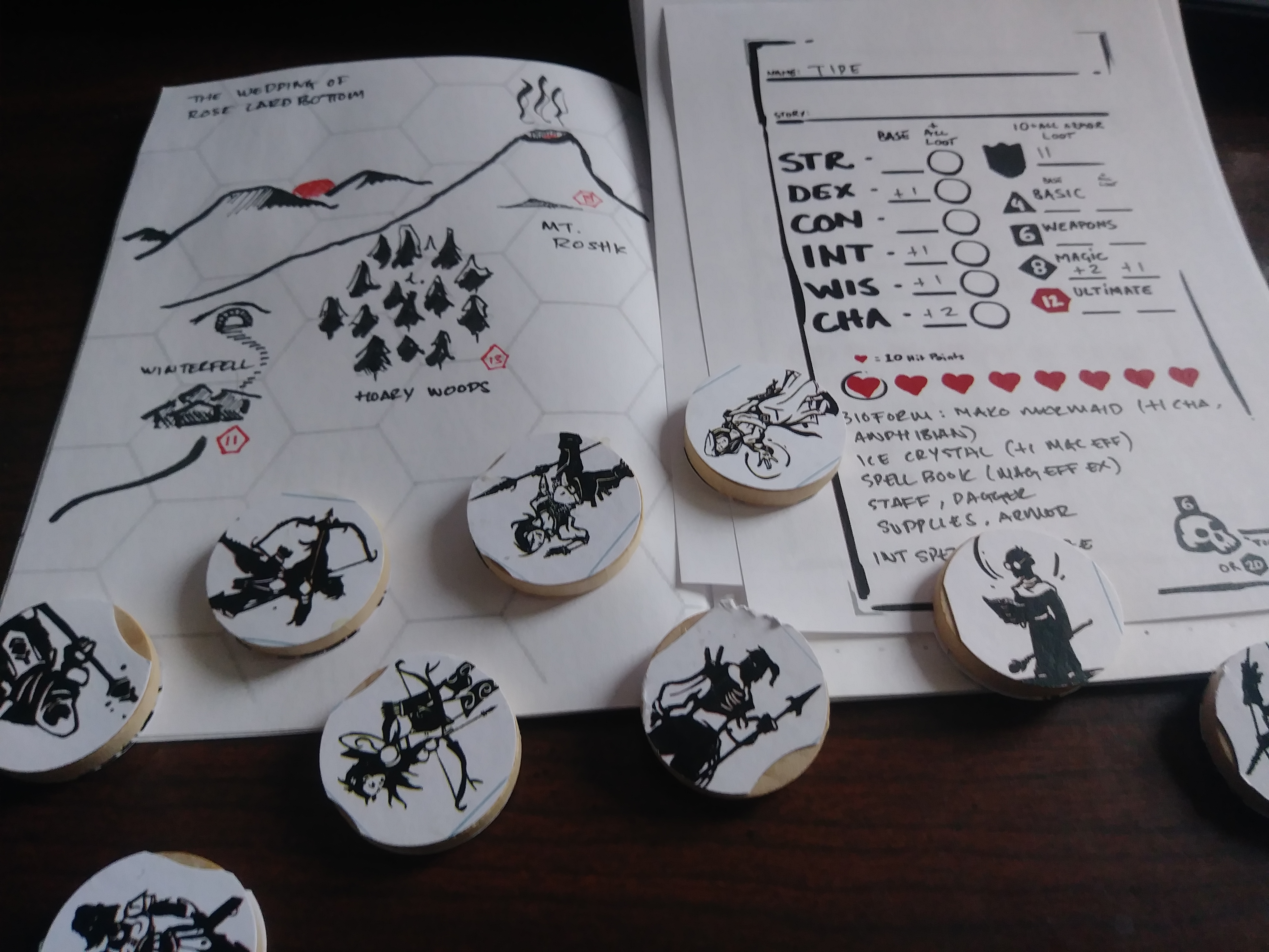 Getting ready for my first ICRPG game - INDEX CARD RPG - RUNEHAMMER