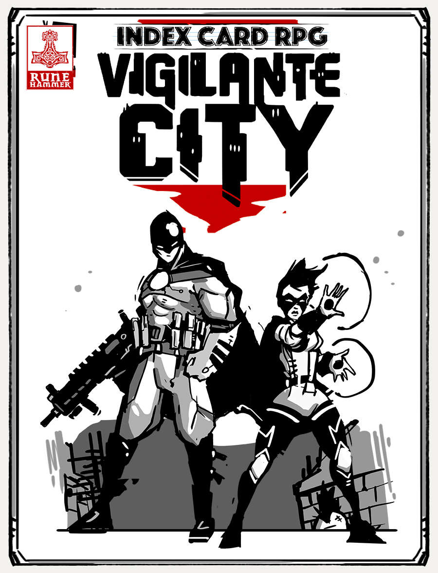 ICRPG: Vigilante City is out! - INDEX CARD RPG - RUNEHAMMER