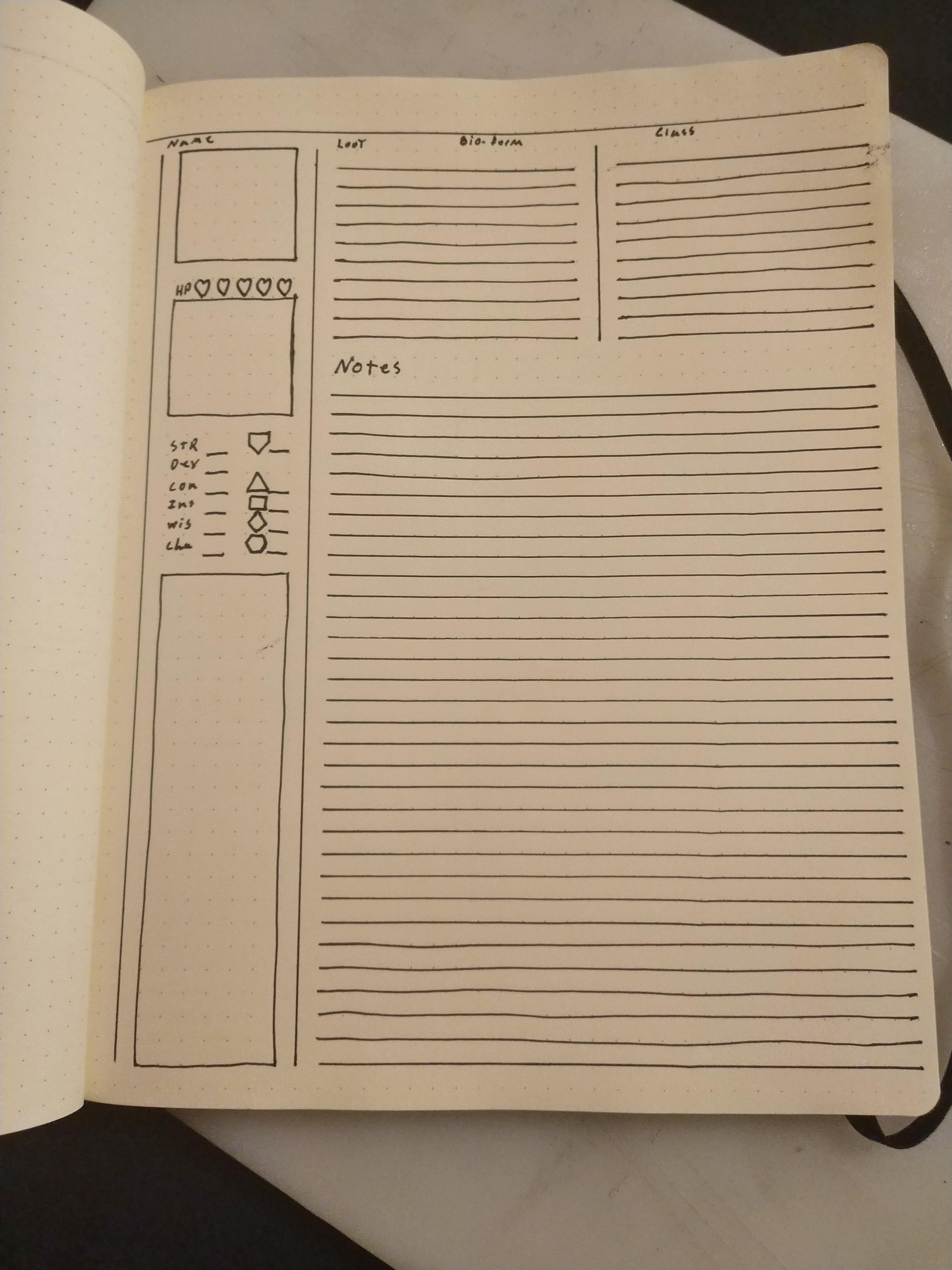 Minimalist character sheets - INDEX CARD RPG - RUNEHAMMER